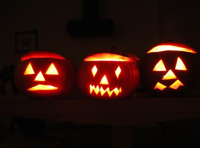 Halloween lanterns (David Cheskin/AP)