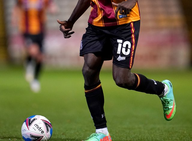 Clayton Donaldson helped Bradford to victory at Mansfield (