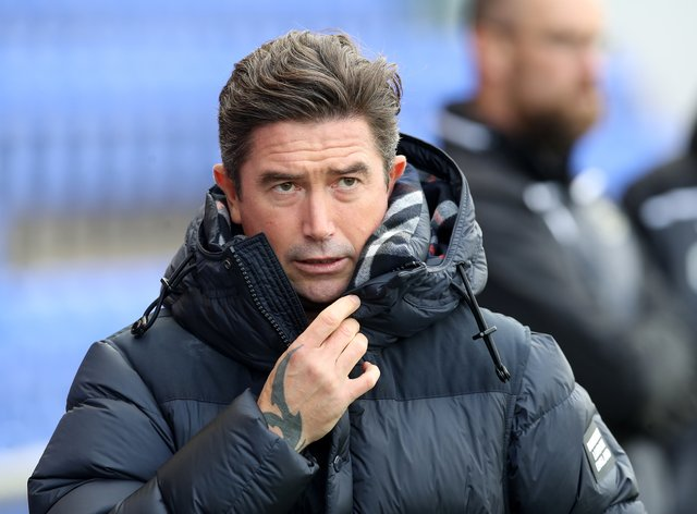 Harry Kewell secured his first league win as Oldham boss