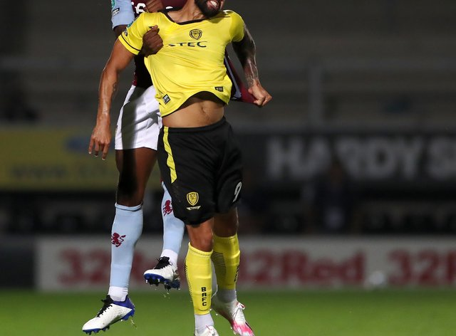 Kane Hemmings arrived at Burton in the summer