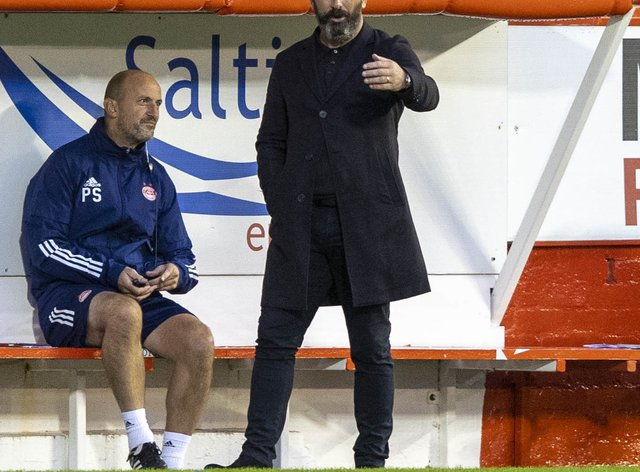 Derek McInnes claimed his side were denied a stonewall spot-kick