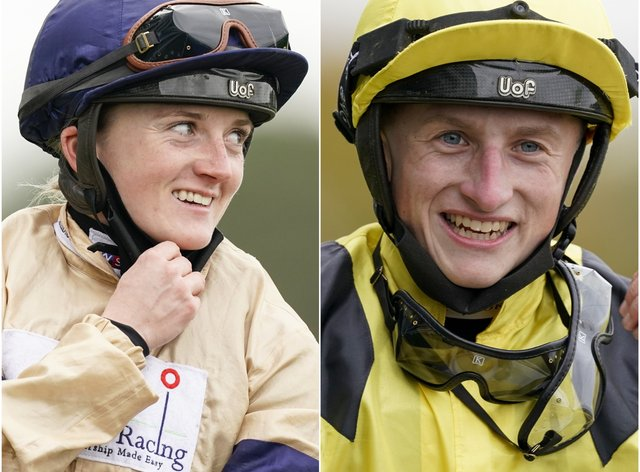 Hollie Doyle (left) and Tom Marquand enjoyed a memorable afternoon at Ascot