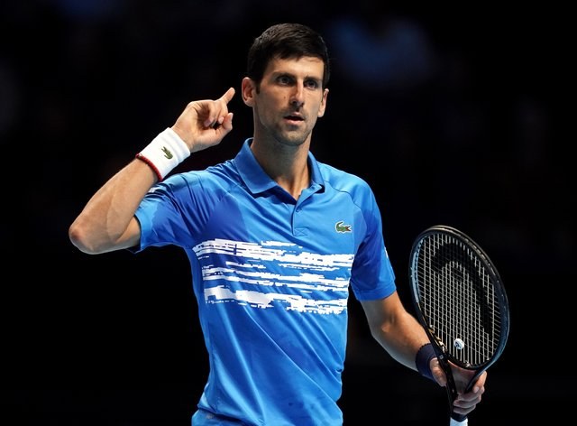Novak Djokovic taught kids how to play tennis in the street