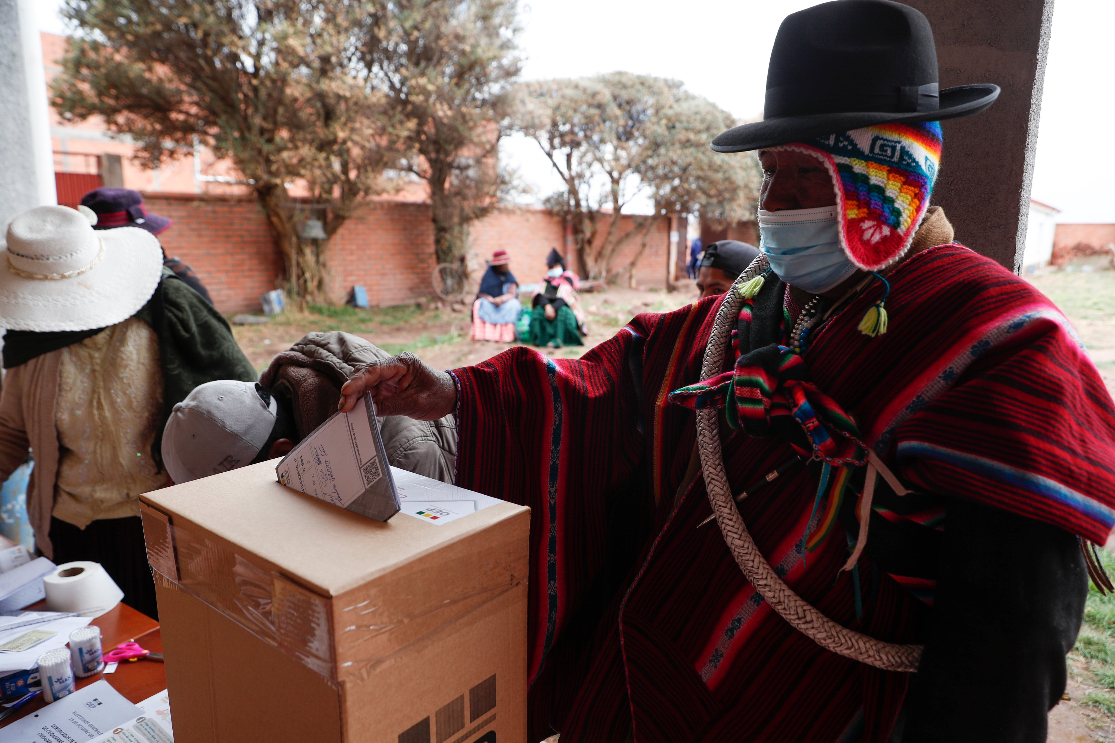 Bolivia awaits voting results in election redo amid pandemic