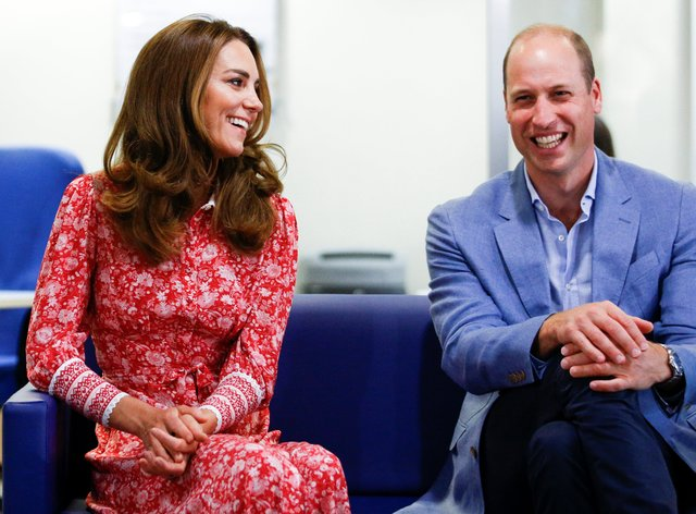 Kate was joined by Prince William on her visit to the London-based exhibition