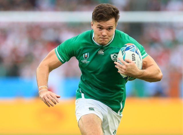 Jacob Stockdale, pictured, has the chance to impress for Ireland at full-back