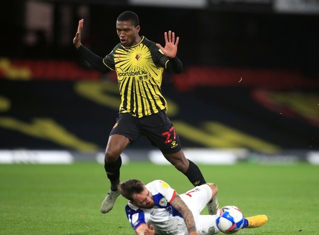Tony Mowbray felt Watford's Christian Kabasele was lucky not to be shown a red card