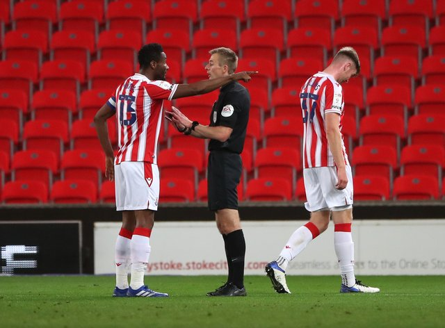 Nathan Collins was sent off for Stoke