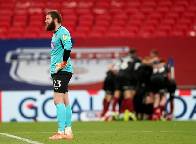 Exeter goalkeeper Jonny Maxted