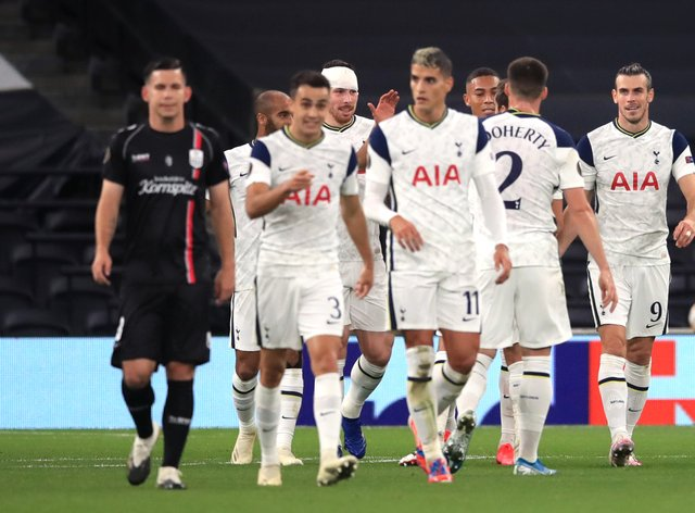 Tottenham enjoyed a comfortable night