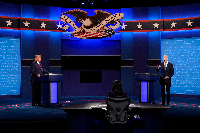Donald Trump and Joe Biden face off in final presidential debate