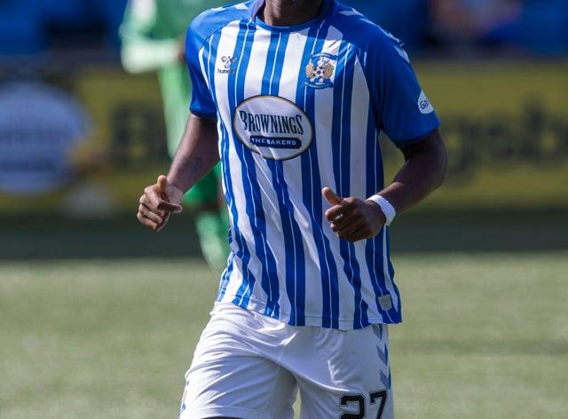 Kilmarnock's Aaron Tshibola has chalked up stints with eight clubs so far