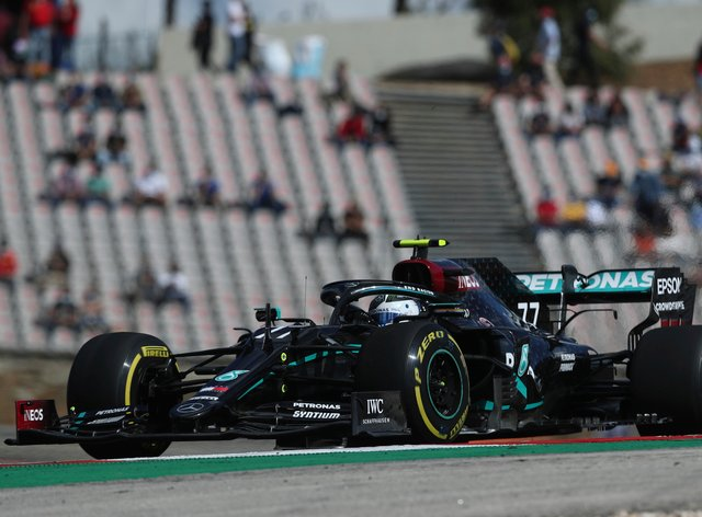 Valtteri Bottas was fastest, ahead of Mercedes team-mate Lewis Hamilton, in opening practice for the Portuguese Grand Prix