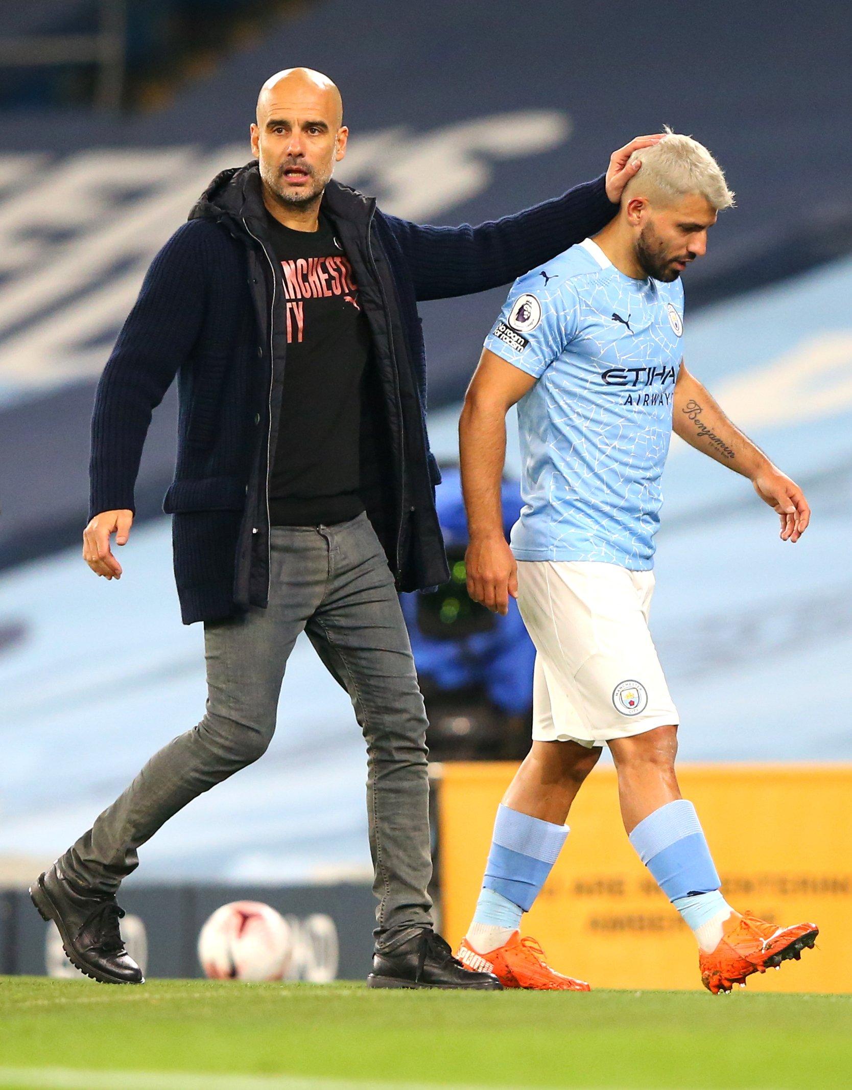 Pep Guardiola continues to put protective arm around 'humble' Sergio Aguero