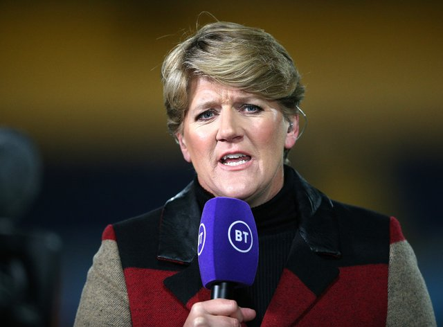 Clare Balding admits that she can't hear very well