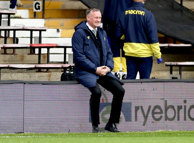 Michael O'Neill found Stoke's match against Brentford tough to watch towards full-time