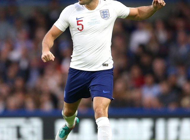 Mark Wright plays for England at Soccer Aid 2019