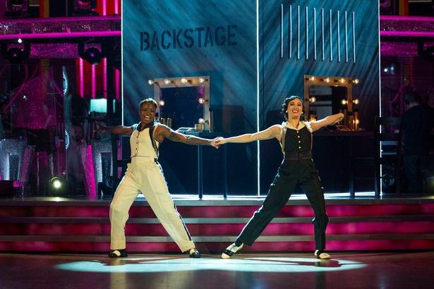 Nicola Adams (left)  and Katya Jones did their first performance together