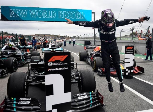 Hamilton won a record-breaking 92nd Grand Prix on Sunday