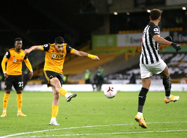 Raul Jimenez's opener was cancelled out by Jacob Murphy's late free-kick