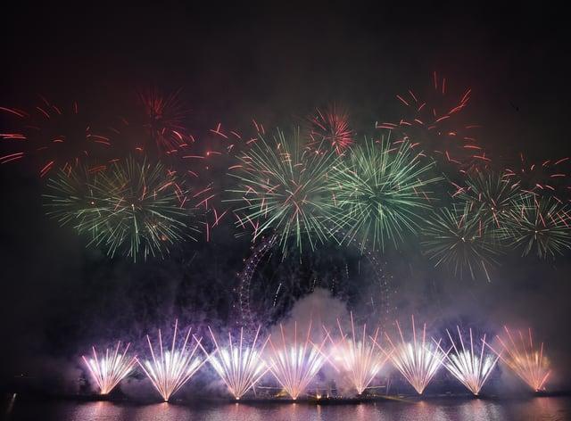A fireworks display