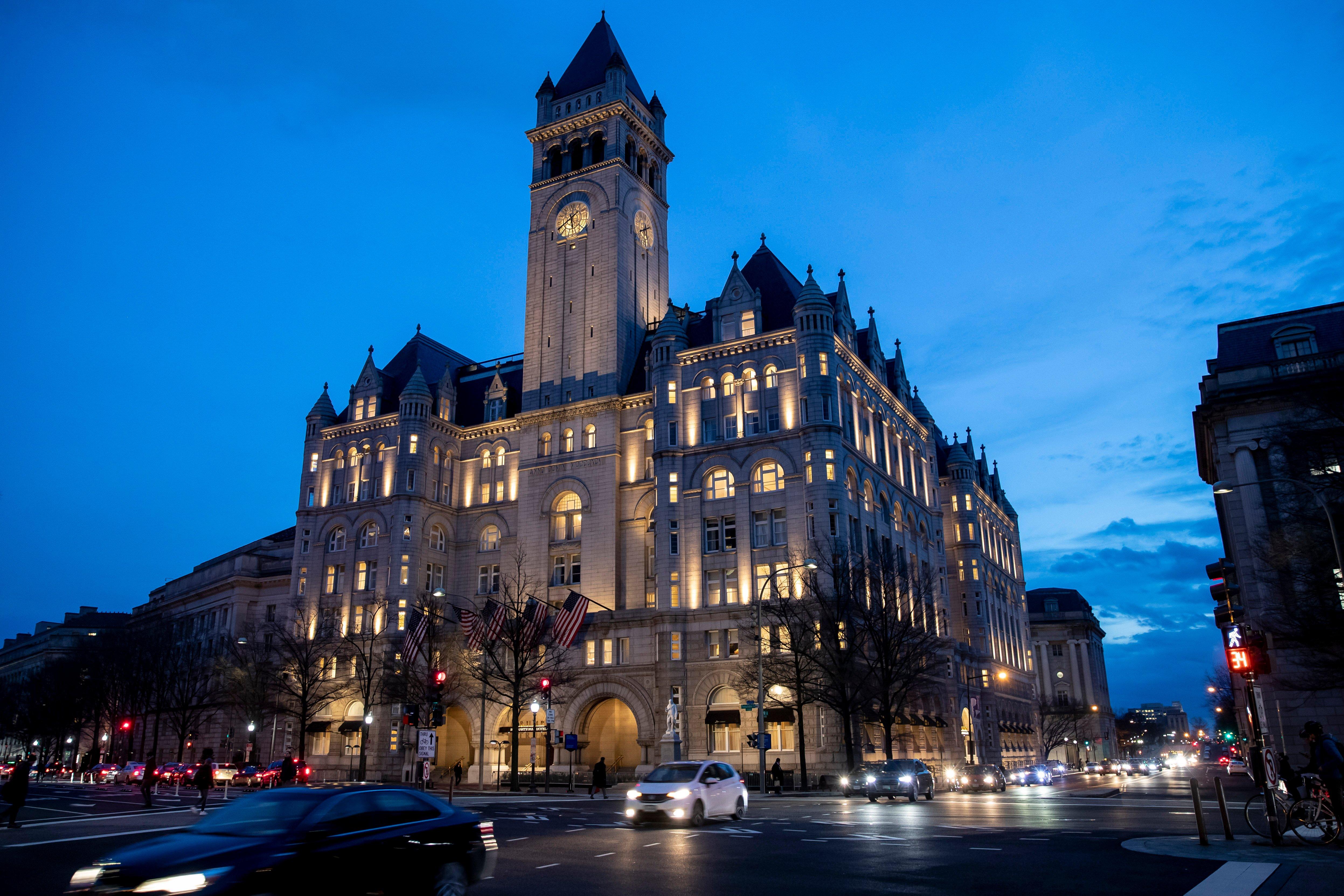 Trump eyes hosting election night party at his Washington hotel