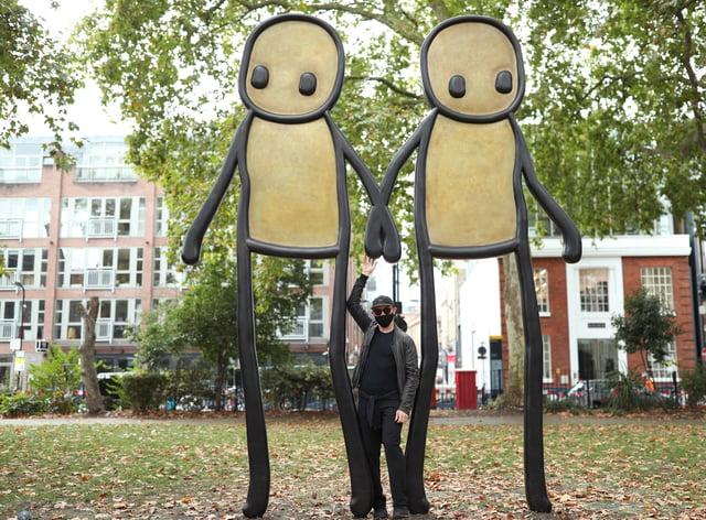 STIK Sculpture Launch London
