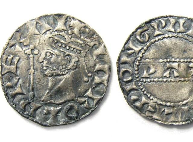 The Harold II silver penny found by Reece Pickering in Norfolk