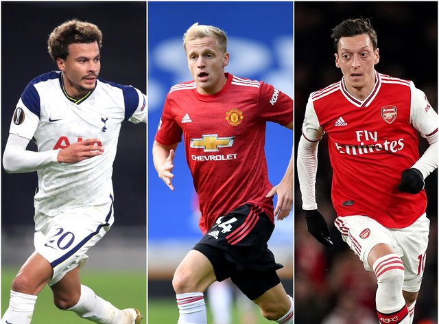 Dele Alli, Donny Van De Beek and Mesut Ozil are among the big-name Premier League players currently struggling for game time.