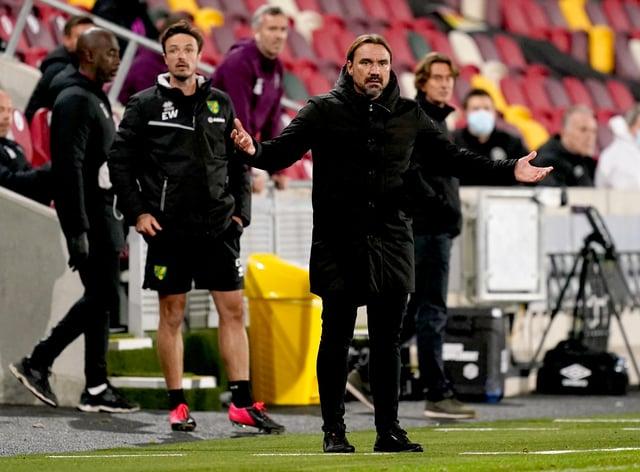Daniel Farke's Norwich earned a late point at Brentford