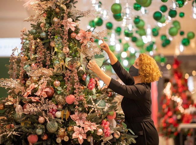Decorations are going up at John Lewis