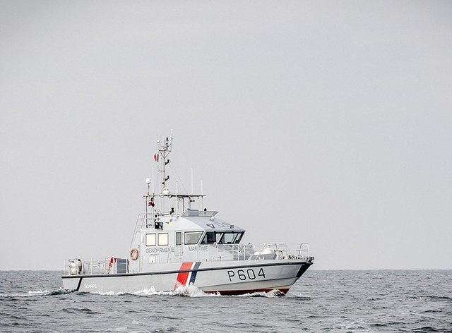 A French patrol boat in the English Channel