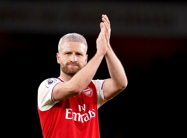Shkodran Mustafi's Arsenal contract expires at the end of the season.