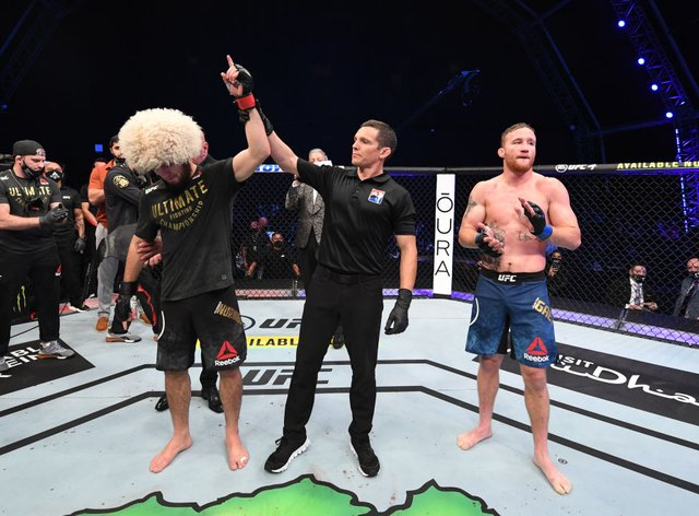 Khabib retired from MMA immediately after his win over Justin Gaethje last weekend