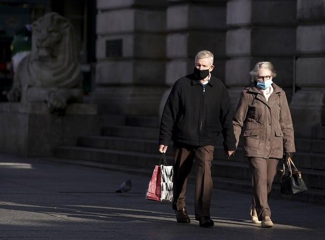 Shoppers wear face masks in Nottingham (Tim Goode/PA)