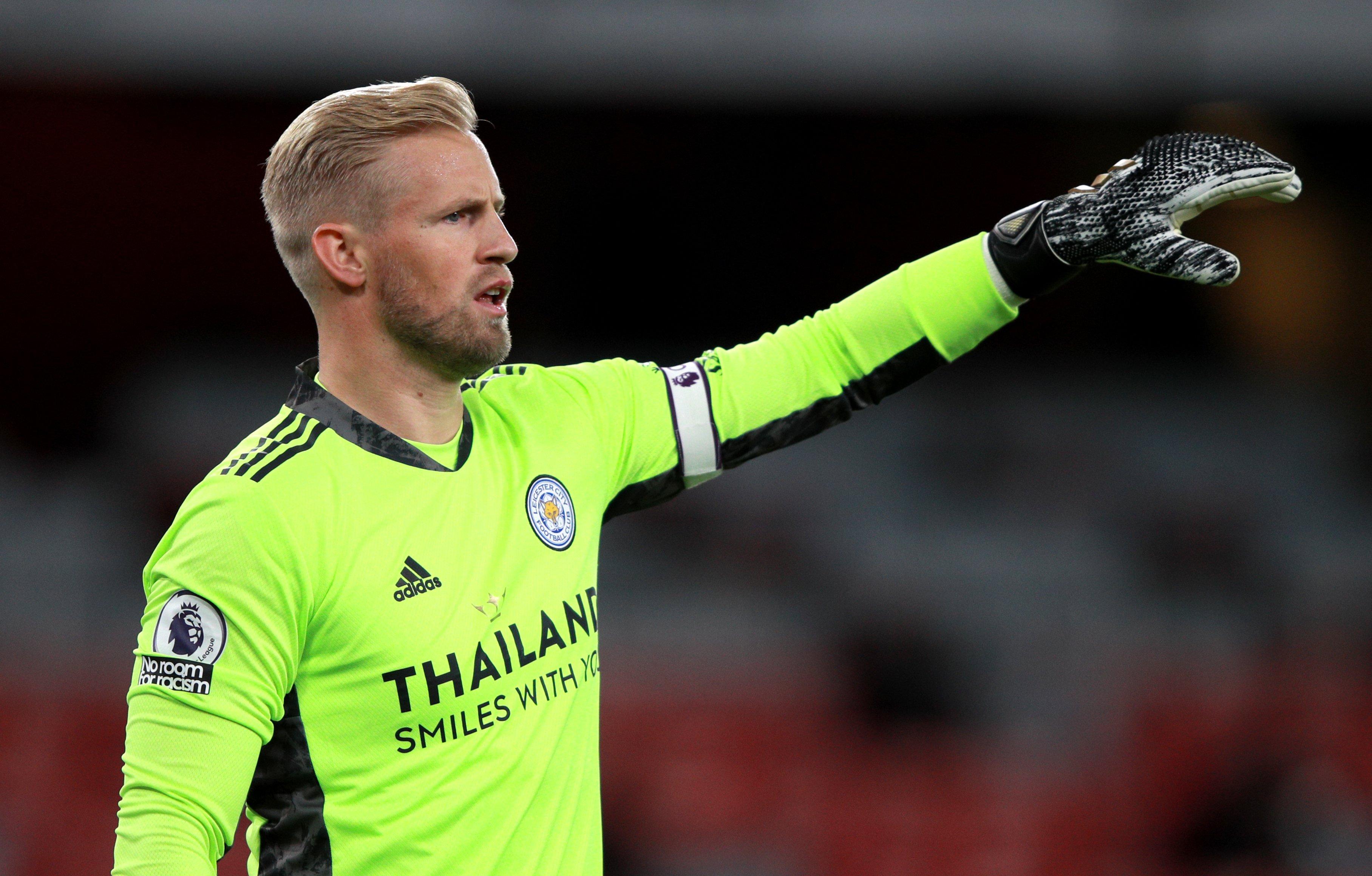 Kasper Schmeichel relishing European action as Leicester travel to AEK Athens
