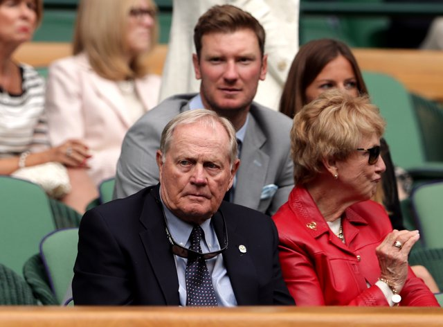 Jack Nicklaus (left) has urged people to vote for Donald Trump in the US presidential election