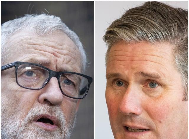 Jeremy Corbyn and Sir Keir Starmer (PA)