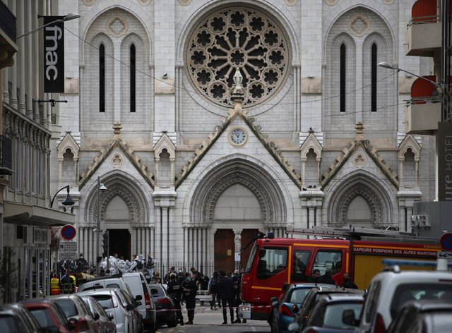 A man armed with a knife attacked two women and a man at the Notre Dame Basilica in Nice
