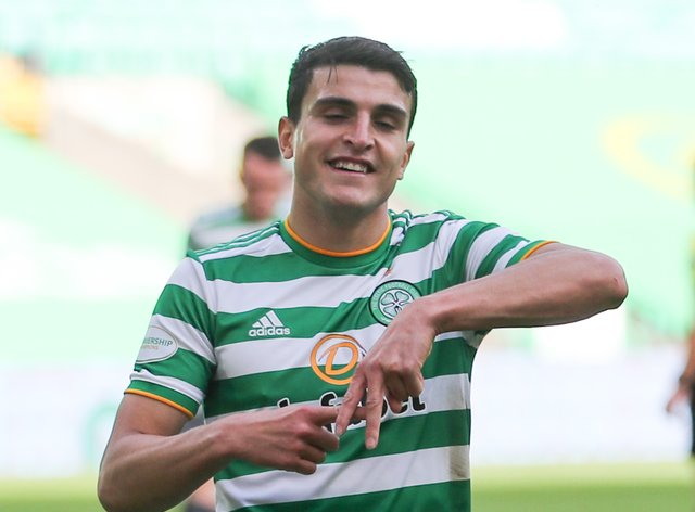 Celtic's Mohamed Elyounoussi scores against Lille