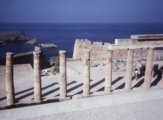 The Temple of Athena in Lindos, Rhodes