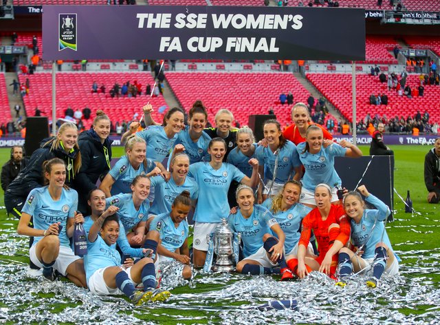Manchester City will look to defend the FA Cup on Sunday