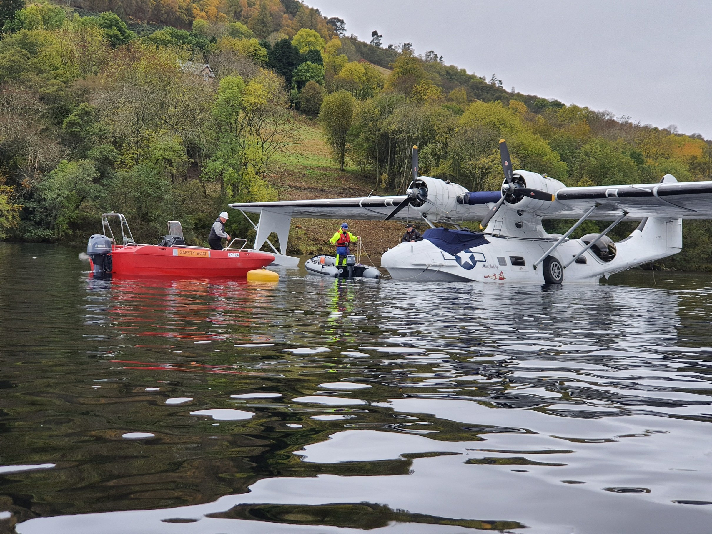 Thousands raised for war seaplane after engine failure landing on Loch Ness