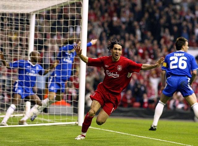 Former Liverpool forward Luis Garcia recalled his 'ghost goal' against Chelsea