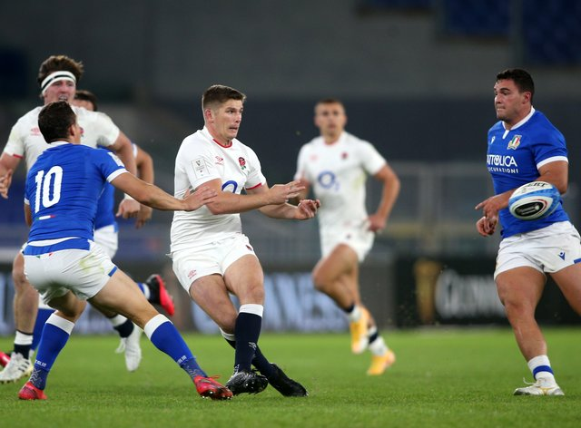 England's win in Italy was enough to secure the title