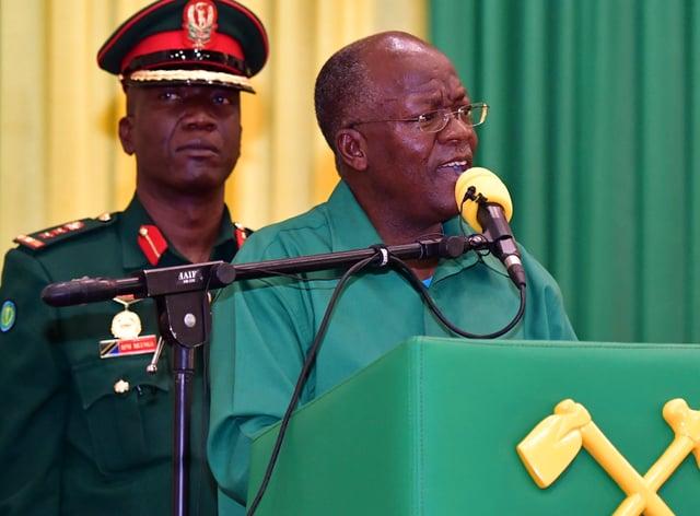 President John Magufuli (AP)
