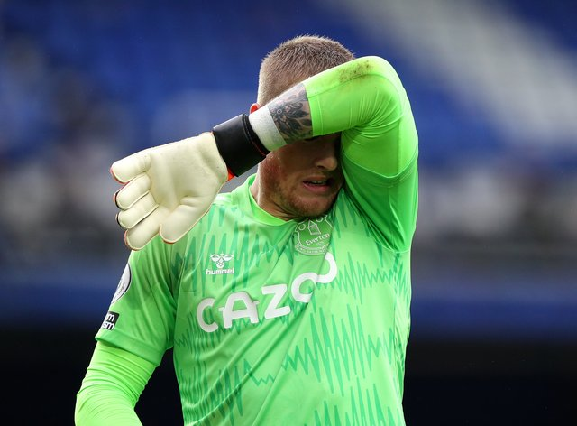 Everton goalkeeper Jordan Pickford has been left out of the team at Newcastle