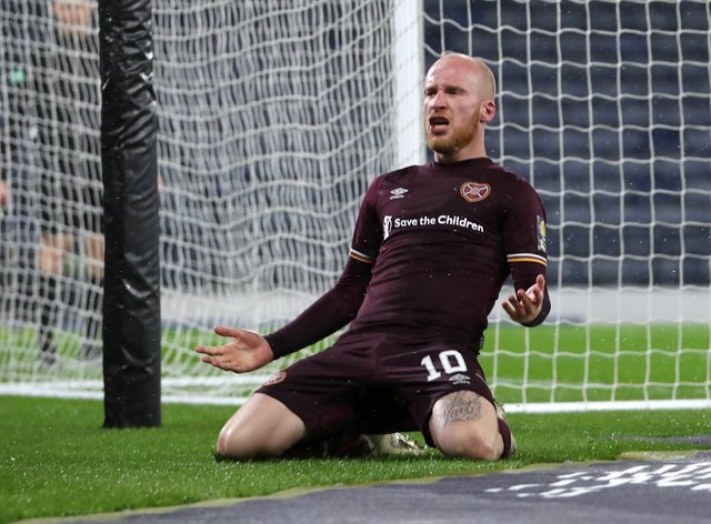 Liam Boyce sent Hearts into the Scottish Cup final