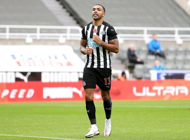 Callum Wilson celebrates his goal