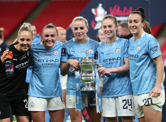 Manchester City lifted the Women's FA Cup
